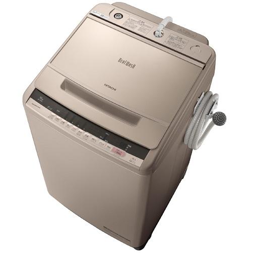 【日時指定不可】【離島配送不可】BW-V100C-N 全自動洗濯機 HITACHI 日立 ビートウォッシュ 洗濯・脱水容量10kg BWV100CN シャンパン