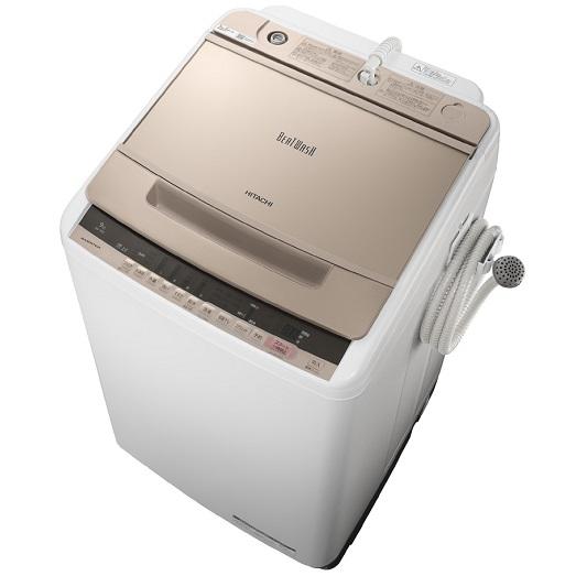 【日時指定不可】【離島配送不可】BW-V90C-N 全自動洗濯機 HITACHI 日立 ビートウォッシュ 洗濯・脱水容量9kg BWV90CN シャンパン