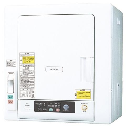【時間指定不可】【離島配送不可】DE-N60WV-W 衣類乾燥機 HITACHI 日立 乾燥容量6.0kg DEN60WVW ピュアホワイト