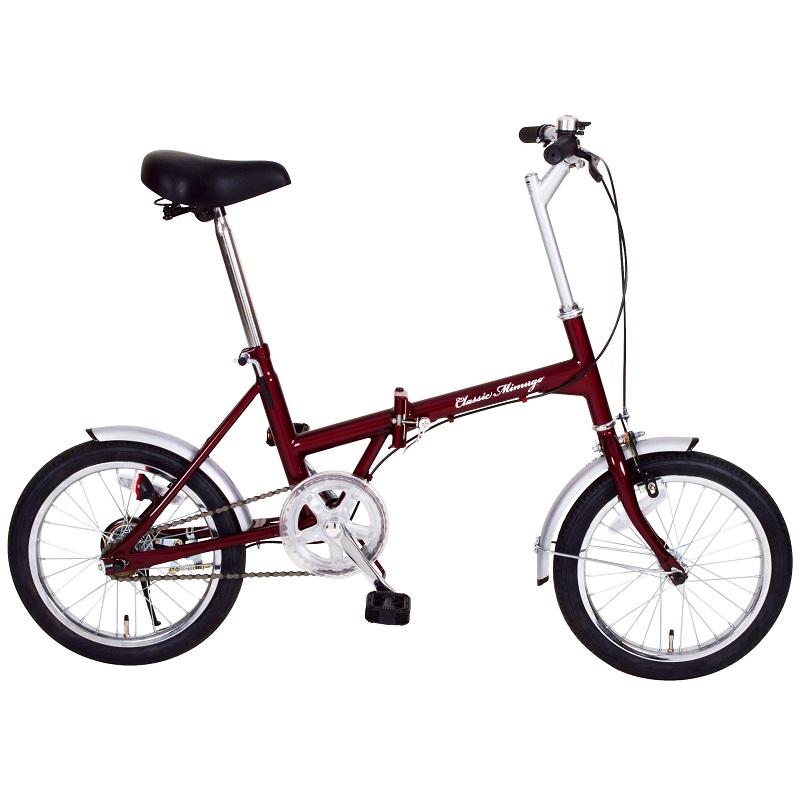 【メーカー直送】【代引不可】【日時指定不可】【北海道・沖縄・離島不可】MG-CM16 折りたたみ自転車 ミムゴ Classic Mimugo FDB16 16インチ MGCM16 クラシックレッド