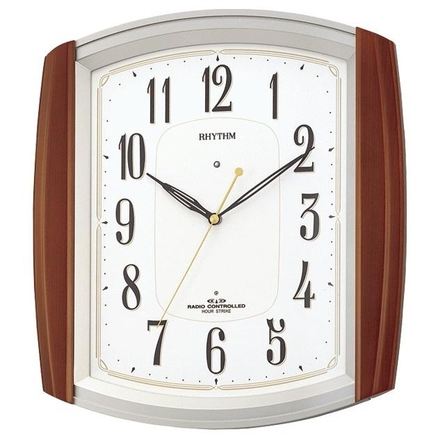 お取り寄せ 4MN469RH06 電波掛時計 リズム時計 ネムリーナM469R 壁掛け時計 電波時計 電波掛け時計 電波掛時計 壁掛時計 かけ時計 壁掛け電波時計 電波壁掛け