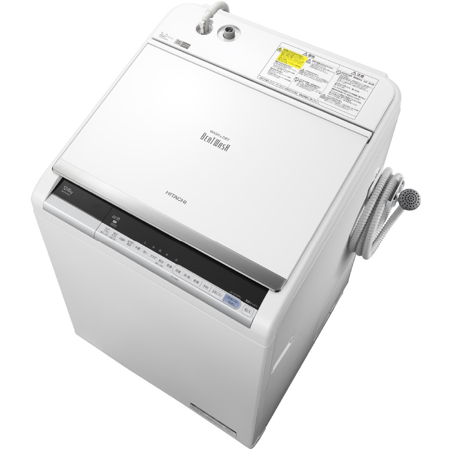 【日時指定不可】【離島配送不可】BW-DV120C-W 洗濯乾燥機 HITACHI 日立 ビートウォッシュ 洗濯・脱水容量12kg 洗濯~乾燥・乾燥容量6kg BWDV120CW ホワイト