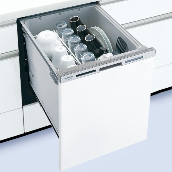 【時間指定不可】【離島配送不可】NP-45MD8W ビルトイン食器洗い乾燥機 Panasonic パナソニック M8シリーズ ディープタイプ(幅45cm) ドア面材型 NP45MD8W