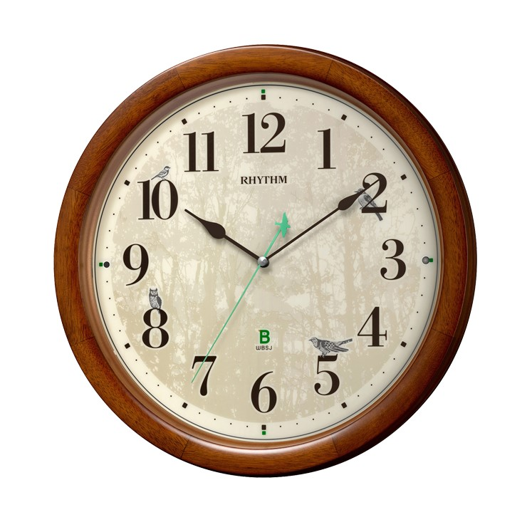 8MN408SR06 電波掛時計 リズム時計 日本野鳥の会 四季の野鳥 報時掛時計408 壁掛け時計 電波時計 電波掛け時計 電波掛時計 壁掛時計 かけ時計 壁掛け電波時計 電波壁掛け