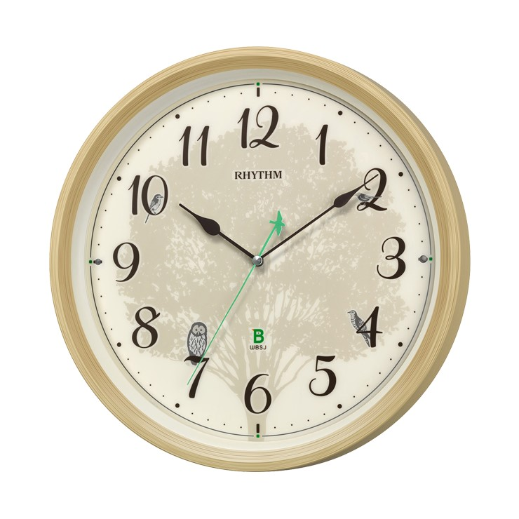 8MN409SR06 電波掛時計 リズム時計 日本野鳥の会 四季の野鳥 報時掛時計409 壁掛け時計 電波時計 電波掛け時計 電波掛時計 壁掛時計 かけ時計 壁掛け電波時計 電波壁掛け