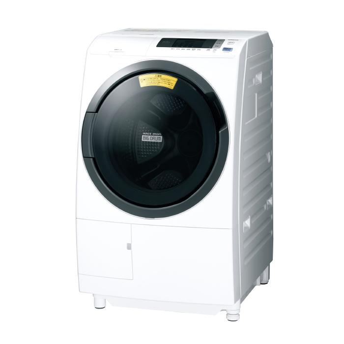 【日時指定不可】【離島配送不可】BD-SG100CL-W ドラム式洗濯乾燥機 HITACHI 日立 ビッグドラム 洗濯・脱水容量10kg 洗濯~乾燥・乾燥容量6kg 左開き BDSG100CLW ホワイト