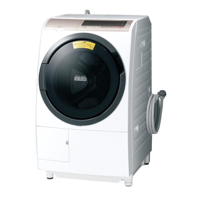 【日時指定不可】【離島配送不可】BD-SV110CL-N ドラム式洗濯乾燥機 HITACHI 日立 ビッグドラム 左開き 洗濯・脱水容量11kg/洗濯~乾燥・乾燥容量6kg BDSV110CLN シャンパン