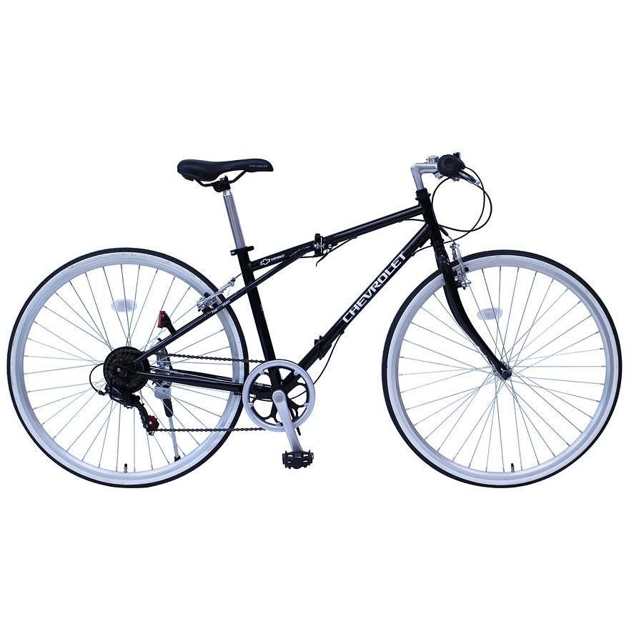 【メーカー直送】【代引不可】【日時指定不可】【北海道・沖縄・離島不可】MG-CV7006G 折りたたみ自転車 クロスバイク ミムゴ CHEVROLET (シボレー) FD-CRB700C6SG 700C MGCV7006G ブラック