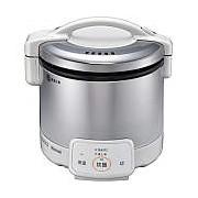 お取り寄せ RR-030VQ-W-LP ガス炊飯器 プロパンガス用 Rinnai リンナイ こがまる 0.5~3合 電子ジャー付 RR030VQWLP グレイッシュホワイト