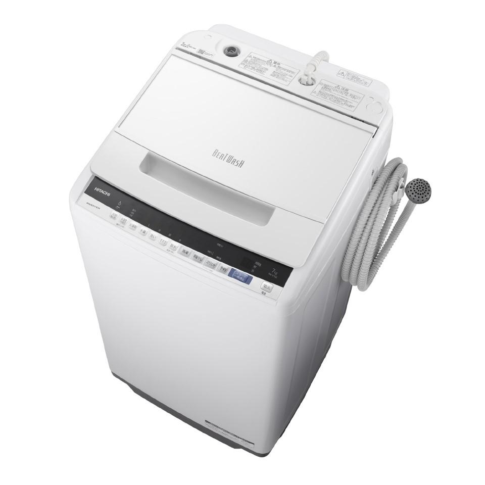 【時間指定不可】【離島配送不可】BW-V70E-W 全自動洗濯機 HITACHI 日立 ビートウォッシュ 洗濯・脱水容量7kg BWV70EW ホワイト