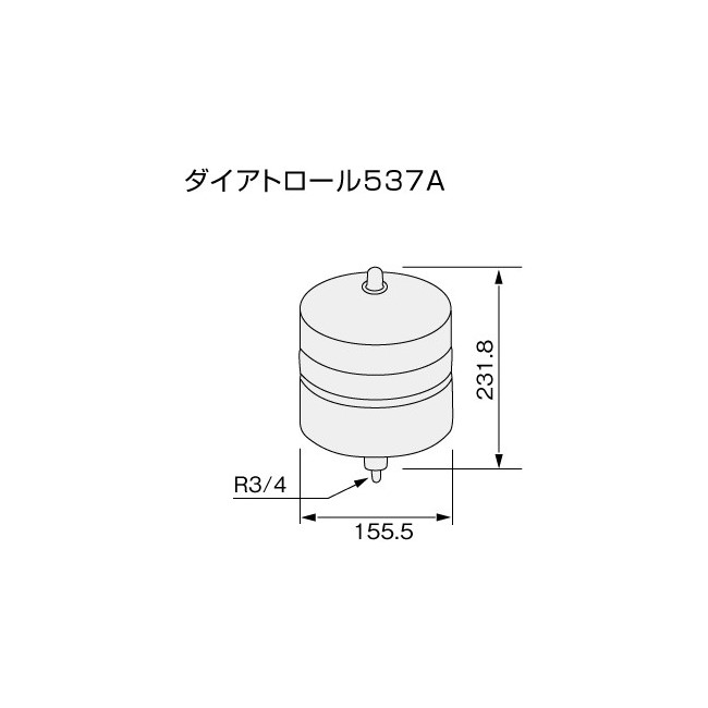 【給湯機本体と同時注文】【メーカー直送】代引不可 0710220 ノーリツ ダイアトロール537A 即出湯用部材 石油給湯機器関連部材