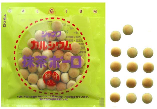 Kewpee, Inc. calcium and iron, containing calcium Bolo (with iron)-Matcha green tea 16 g