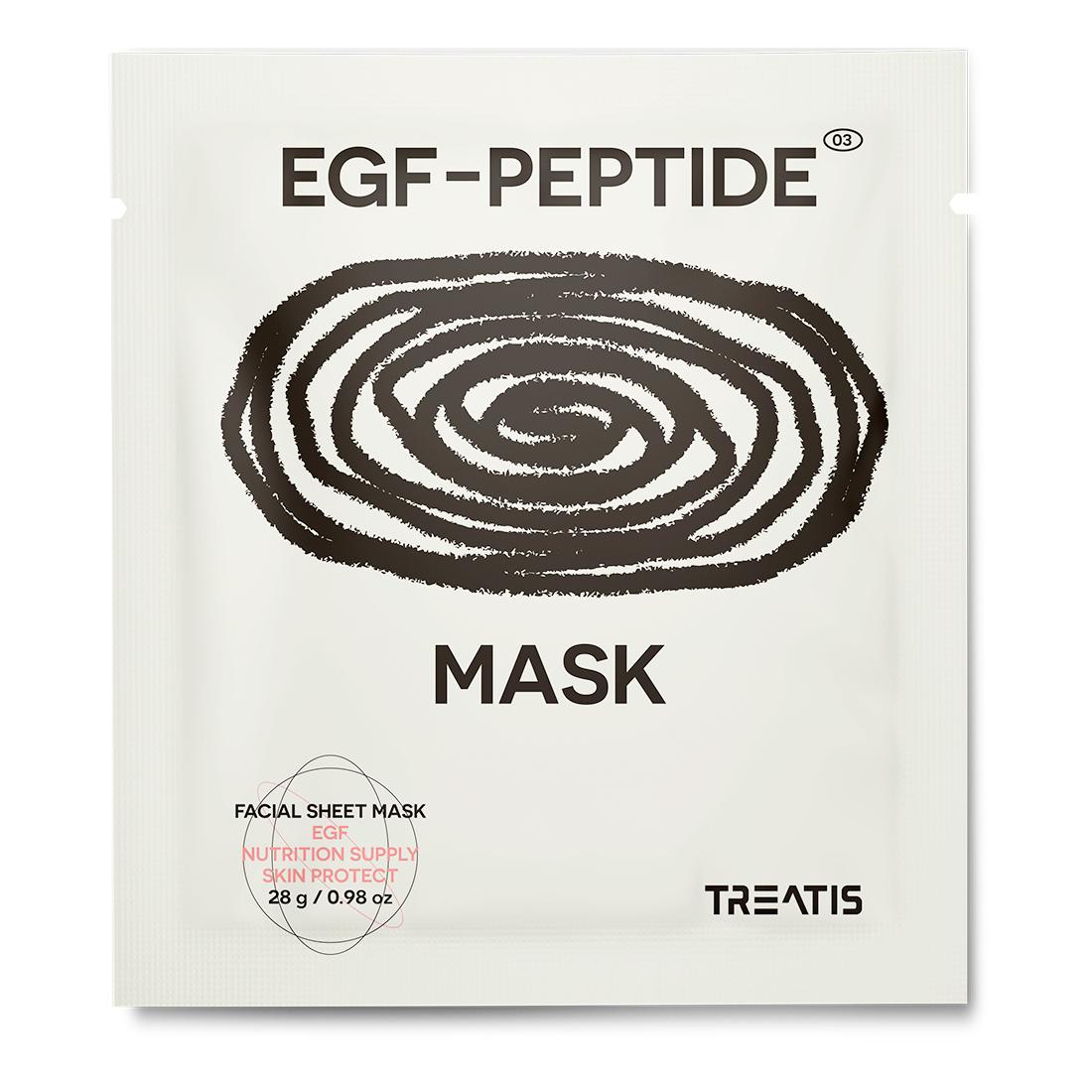 リニューアル 韓国美容皮膚科ブランド 休日 Treatis EGF PEPTIDE MASK PACK ドクターズコスメ 再生 保障 ペプチドマスクパック シートマスク 保湿 栄養 10枚入