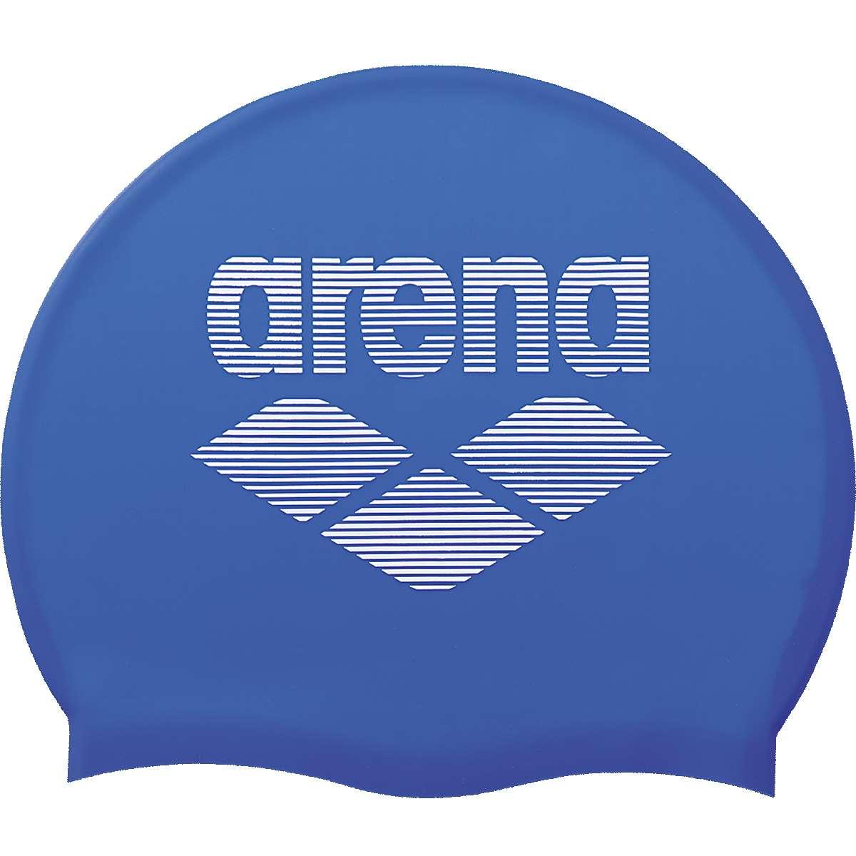 メール便送料無料 贈与 arena アリーナ キャップ 帽子 水泳 ストアー 水泳帽 ARN-6400 シリコンキャップ Rブルー×ホワイト