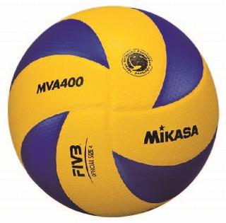 送料無料 【ネームプリント代無料】【ボールセット】 ミカサ MIKASA バレーボール トップモデル同様の斬新なデザイン MVA400 検定球4号 6個セット【smtb-k】【kb】