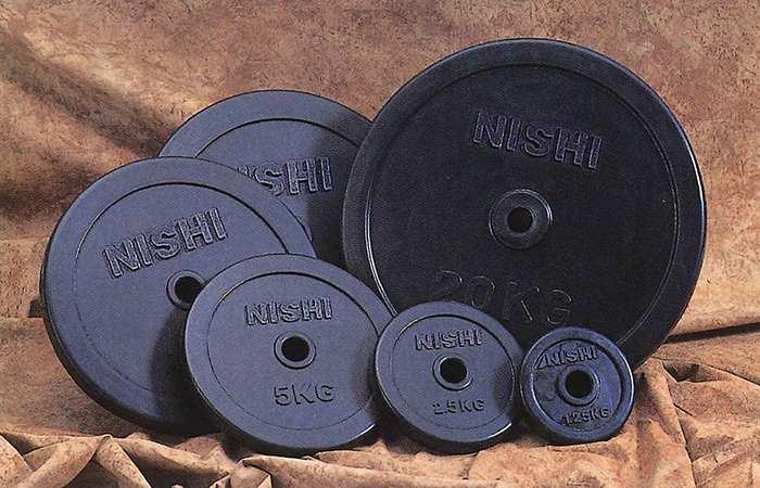 【送料無料】【NISHI ニシスポーツ】【トレーニング用品】 ラバープレート (φ28mmバー用 20.0kg) SDラバープレート28 ラバーコーティングタイプ バーベルプレート 筋トレ T2827 [200410]