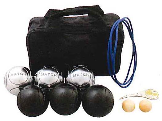 【送料無料】【サンラッキー SUNLUCKY】【ペタンク】ニュースポーツ 国際連盟公認球(ブラック球・シルバー球)12個セット  SRP-29