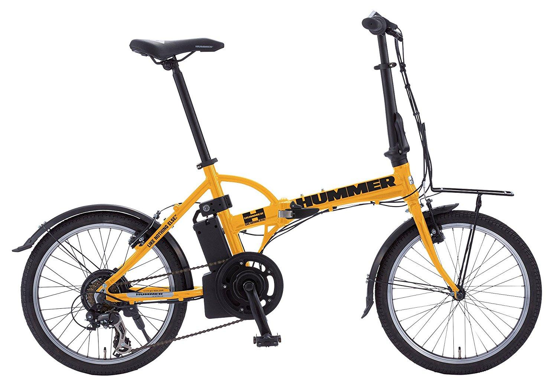 【送料無料】 HUMMER ハマー 20インチ 電動アシスト自転車 おりたたみ 折り畳み自転車 2色 黒/黄色 ブラック:AL-FDB207EBK 世界的に定評のあるシマノ製7段変速ギア搭載!