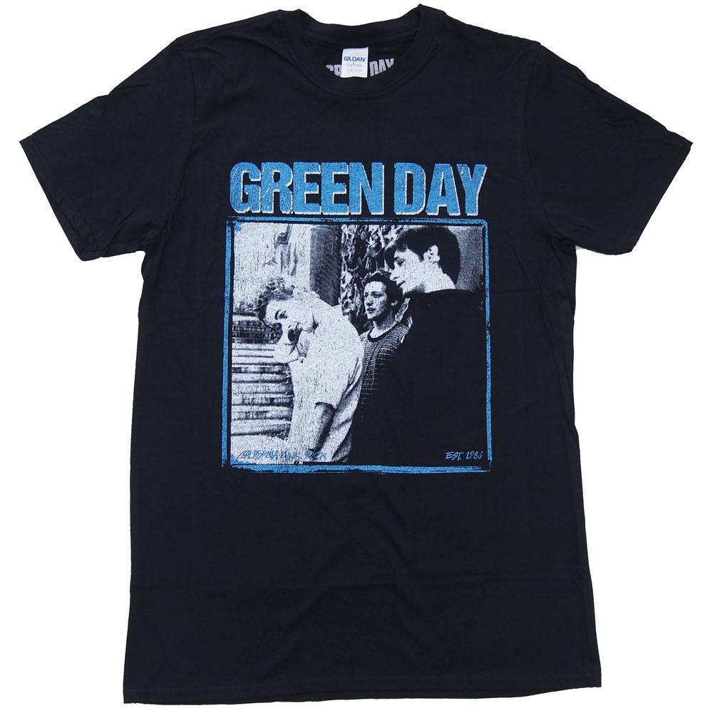 メロコア ☆新作入荷☆新品 グリーン デイ GREEN トラスト DAY オフィシャルバンドTシャツ ロックTシャツ Tシャツ PHOTO BLOCK