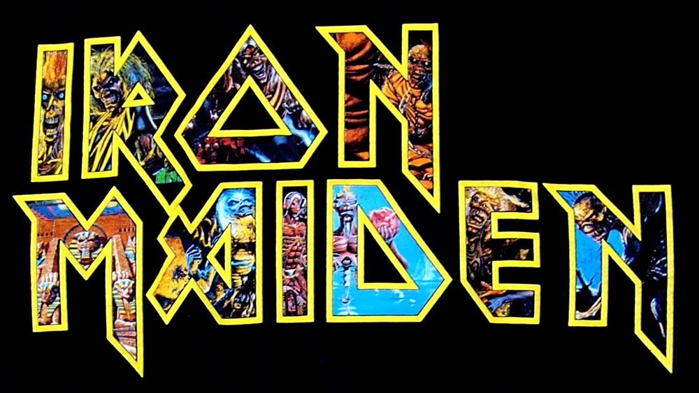 Iron Maiden T Shirt IRON MAIDEN EDDIES LOGO Official Band Shirts Rock
