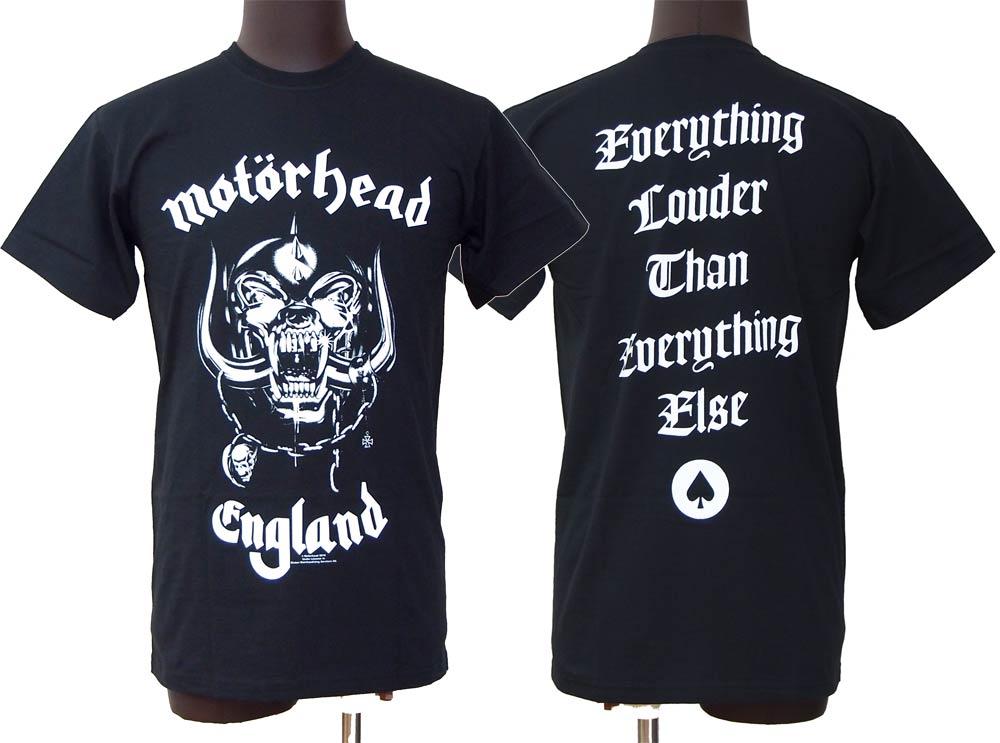 モーターヘッド 驚きの価格が実現 MOTORHEAD 売れ筋 ENGLAND バックプリント有り Tシャツ コンビニ受取対応商品 バンドTシャツ ロックTシャツ オフィシャル