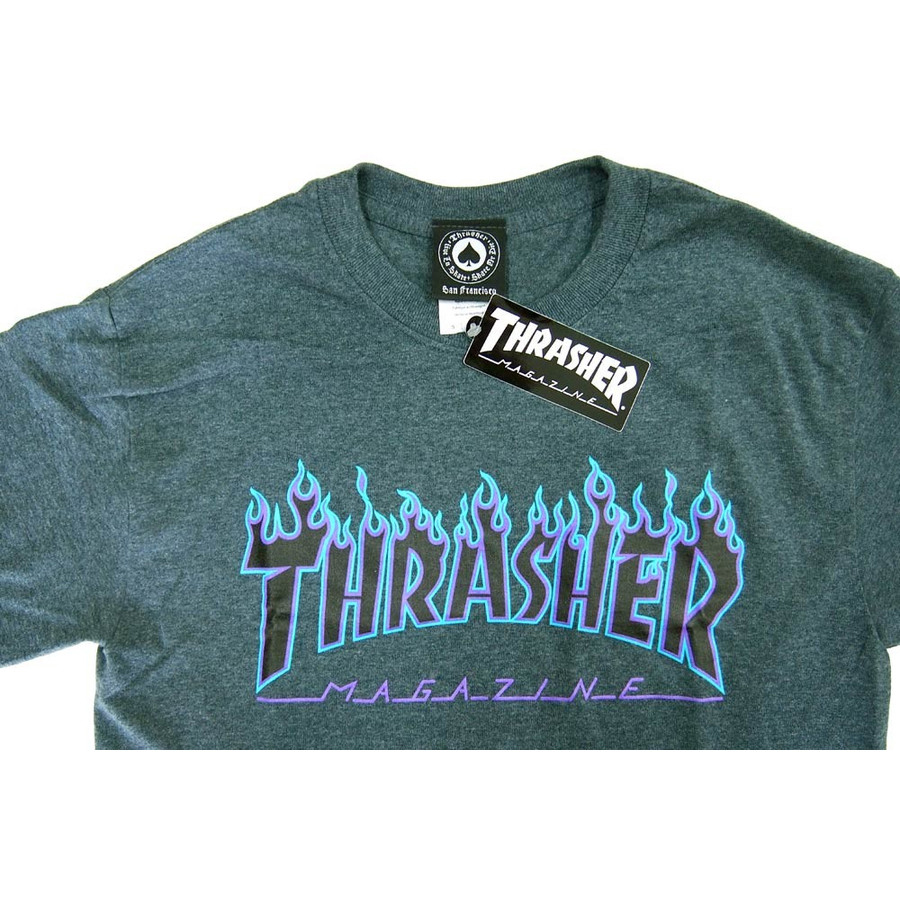 3f8f873611ae ... Thrasher-THRASHER DARK HEATHER FLAME T shirts stickers presents genuine  ...