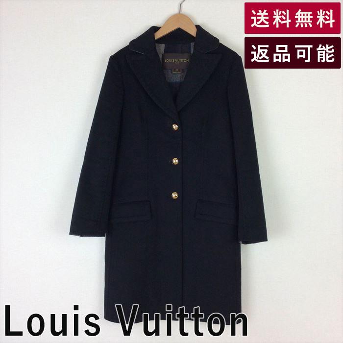 【中古】ルイヴィトン Louis Vuitton コート 裏チェック ミディアム丈 小さめ チェック B0910I004-D0108