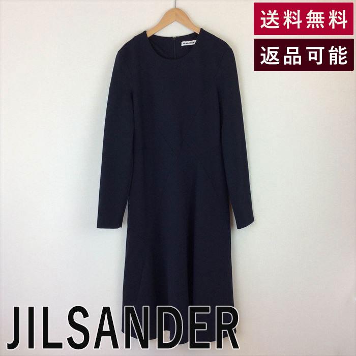 【中古】ジルサンダー JILSANDER ワンピース ジャージー ストレッチ サイズ40 D0114K027-D0130