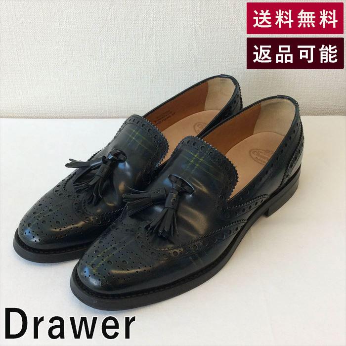 【中古】チャーチ Church's 靴 タータン Drawer別注 グリーン D0521T008-D0615