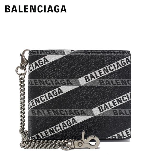 【2019SS】バレンシアガ EXPLORER SQUARE チェーン付き 二つ折り財布【ブラックモノグラム】504934 GY93R 1080/BALENCIAGA/l-wallet