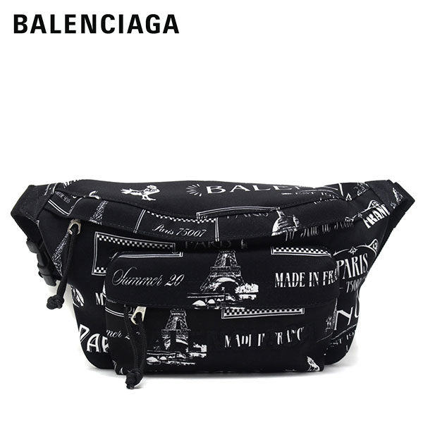 【2020SS】バレンシアガ WHEEL BELT PACK ボディバッグ【ブラック(パリモノグラム)】533009 9MIHN 1090/BALENCIAGA/m-bag