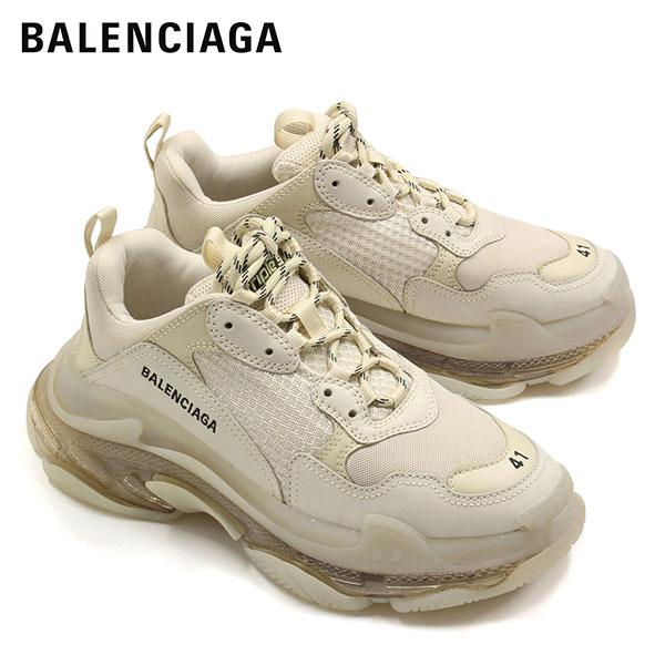 【2020SS】バレンシアガ TRIPLE S CLEAR SOLE トレーナー スニーカー【オフホワイト】541624 W09O1 9005/BALENCIAGA/m-shoes