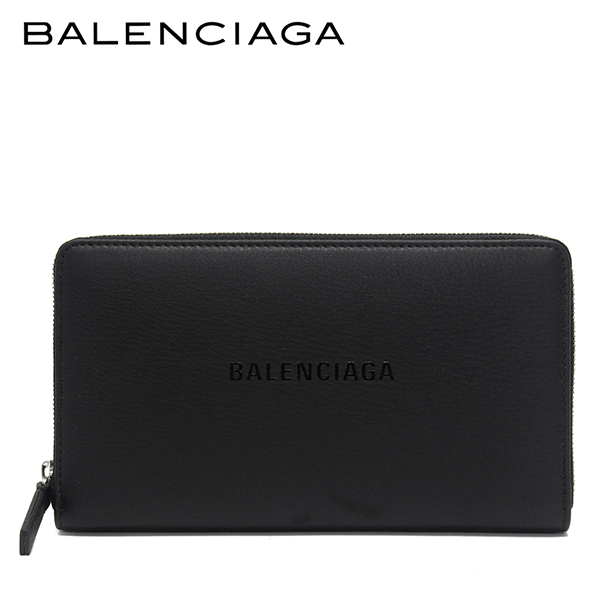 【2019SS】バレンシアガ EVERYDAY ラウンドファスナー長財布【ブラック(×ブラック)】551935 DLQ4N 1065/BALENCIAGA/l-wallet