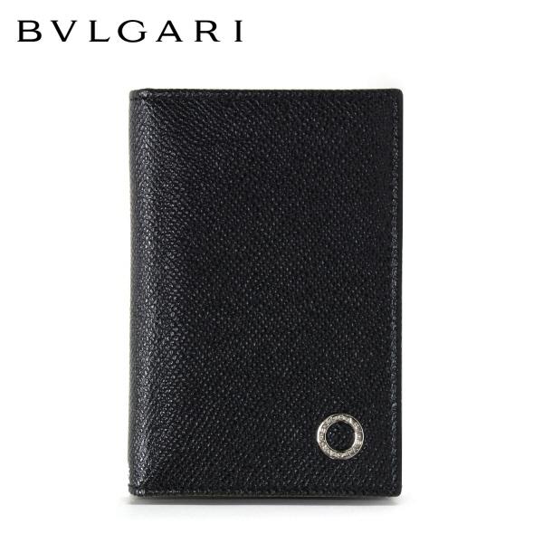 【2018-19AW】ブルガリ サークルロゴ カードケース【ブラック】280292 BLACK/BVLGARI/goods