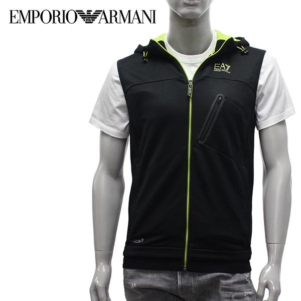 【2019SS】エンポリオ・アルマーニ EA7 VIGOR7 フーディーベスト【ブラック】3GPM72 PJ16Z 1200/EMPORIO ARMANI/m-tops