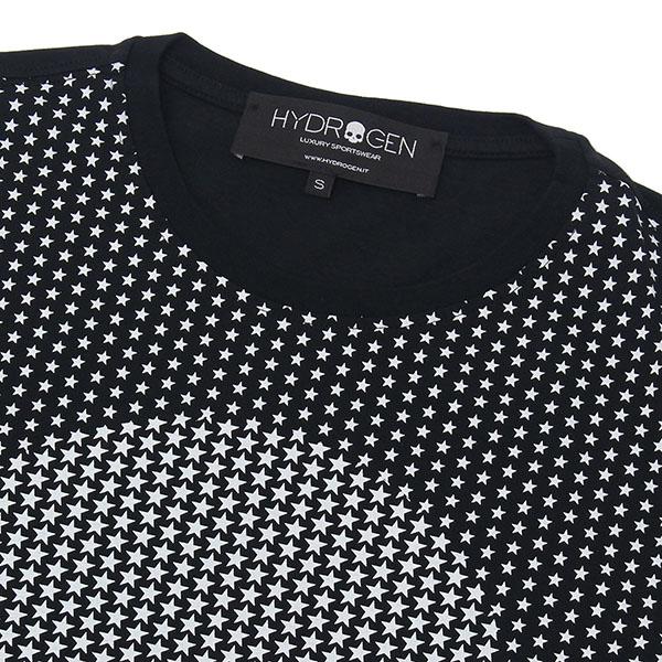 m-tops 【ブラック】 HYDROGEN/ 240007 007/ スカルスターズ 長袖Tシャツ ハイドロゲン 【2019SS】