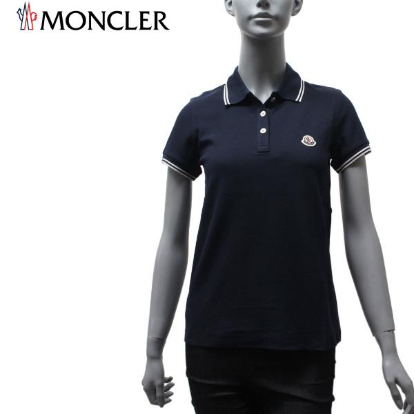 【2020SS】モンクレール レディース ワッペン付き ポロシャツ【ネイビー】8A702 84667 778/MONCLER/l-tops
