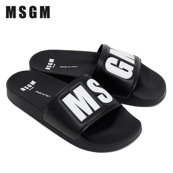 【2020SS】エムエスジーエム MS-GMロゴ スライド/シャワーサンダル【ブラック】2840MS15100 300 99/MSGM/m-shoes
