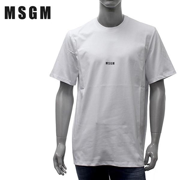 【2019SS】エムエスジーエム スモールロゴ 半袖Tシャツ【ホワイト】MM162 195298 01/MSGM/m-tops
