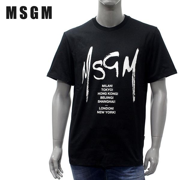 【2019SS】エムエスジーエム City&ライティングロゴ 半袖Tシャツ【ブラック】MM183 195298 99/MSGM/m-tops