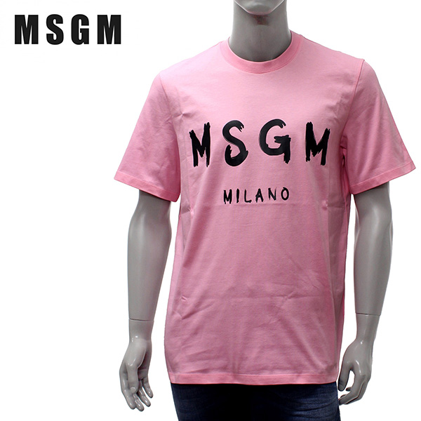 【2019SS】エムエスジーエム ライティングロゴ 半袖Tシャツ【ピンク】MM97 195298 12/MSGM/m-tops
