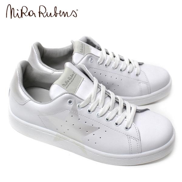 【2018SS】ニラ ルーベンススターペイント メンズ レザースニーカー【ホワイト×シェル】DAST MPM BIANCO/MADREPERLA/NiRa Rubens/m-shoes