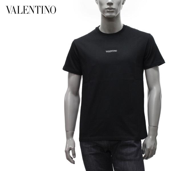 大放出セール Valentino Garavani 2021年春夏新作ヴァレンティノ ガラヴァーニ トップス Tシャツ ヴァレンティノ m-tops ロゴプリント ブラック 2021SS 正規店 VV3MG10V738 0NI