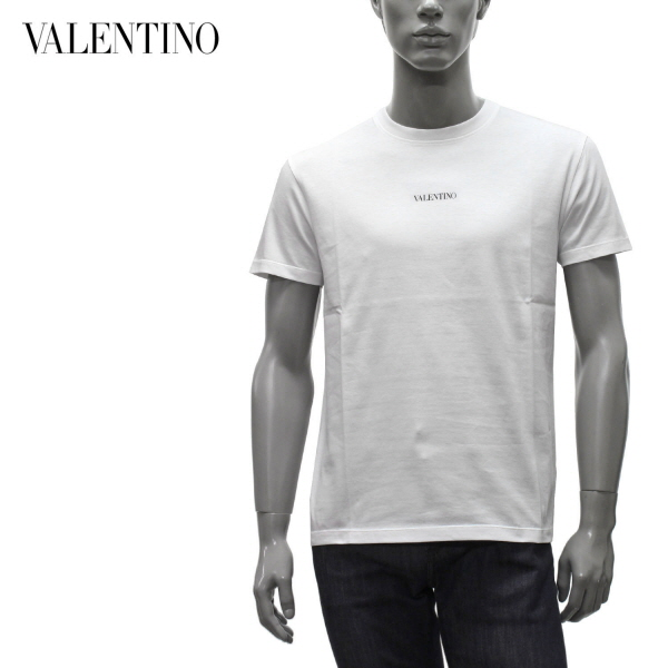 Valentino Garavani 2021年春夏新作ヴァレンティノ ガラヴァーニ トップス 当店は最高な サービスを提供します 奉呈 Tシャツ ヴァレンティノ ロゴプリント A01 ホワイト m-tops VV3MG10V738 2021SS