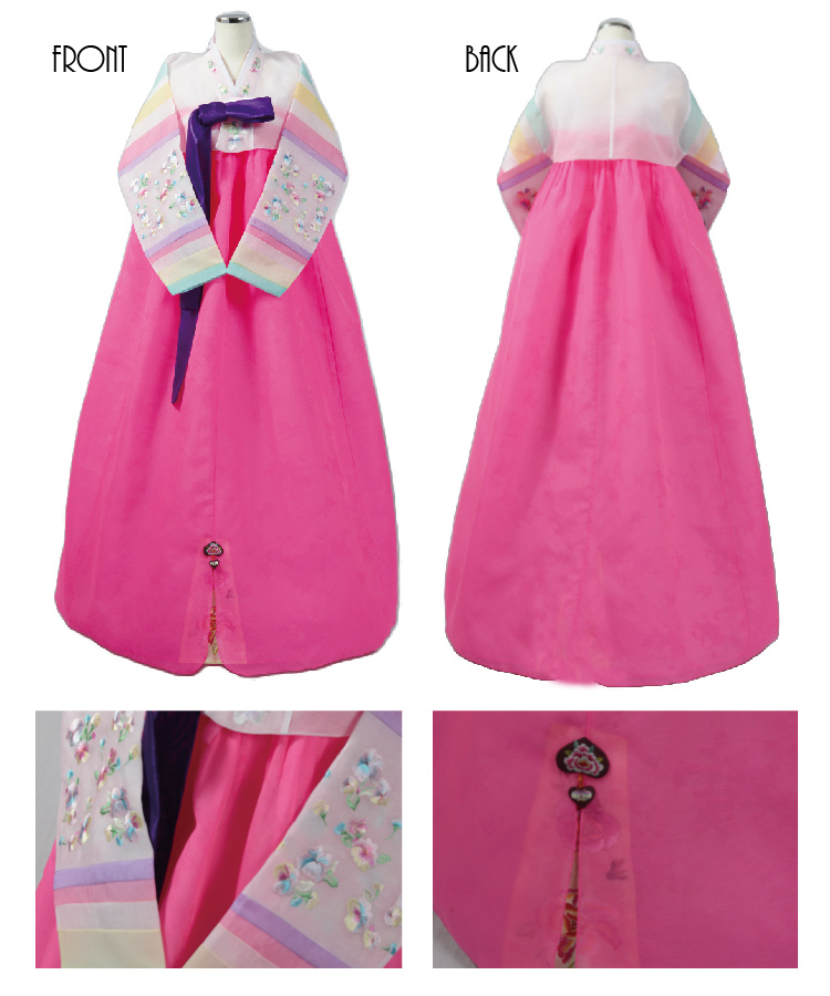 Dress Cabinets For Success: Dream Ai Land: Hanbok Korea Ethnic Dress Light Pink / Dark