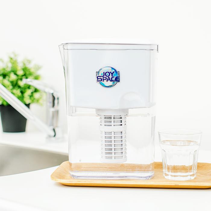 ポット型浄水器 ジョイスペースミネラルJOYSPACE 長寿命浄水器 浄水器 ポット型 家庭用 長寿命 水道水 ろ過 飲む 飲料水 スリム コンパクト 小型 シンプル