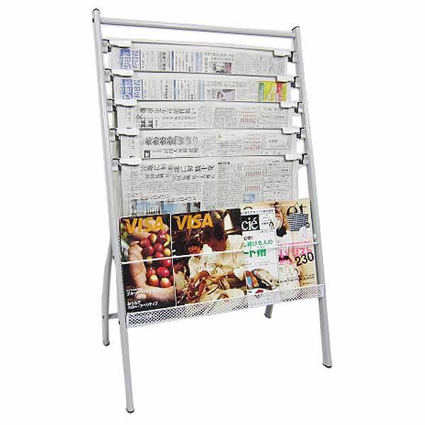 マガジンラック 4段タイプ ホワイト 新聞 開店祝い 新聞ラック おしゃれ ラック シンプル 雑誌やパンフレット