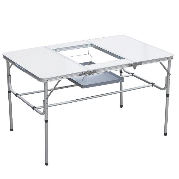 アルミテーブル バーベキューテーブル BBQ キャンプ用品 アウトドアテーブル