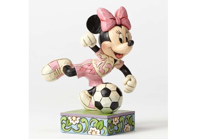 ミニーマウス フィギュア ミニー サッカー ハンドペイント<ディズニートラッディション>