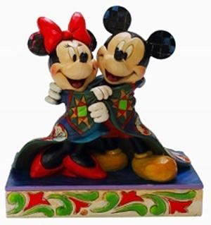 ミニーマウス フィギュア ミッキーとミニー キルト ハンドペイント<ディズニートラッディション>